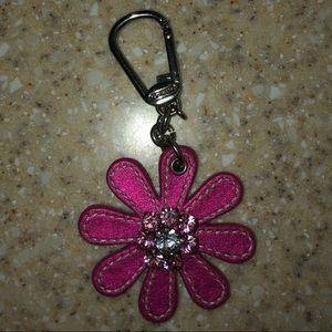 Coach Flower Rhinestone Key Chain